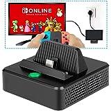 innoAura Base de Carga para Switch Base de Carga Portátil para Reemplazo con Estructura de Enfriamiento, Puerto de Carga USB