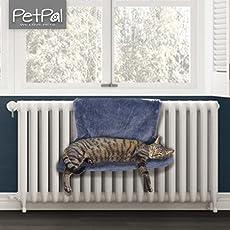 PetPäl Katzen Heizkörperliege | Heizungshängematte Kuscheliger Katzenschlafplatz für die Heizung