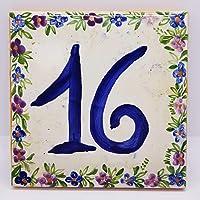 Targhe Numeri Civici Personalizzati centimetri 15 x 15 x 2 Ceramica Handmade Le Ceramiche del Castello Made in Italy