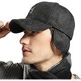 MRACSIY Mens Baseball Cap Winter Caps Hats for Head Circumference 57-61cm