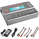 Haisito Cargador de Equilibrio de batería de 80W 6A Lipo Descargador para batería de LiPo/ Li-Ion/ Life (1-6S), NiMH/ NiCd (1