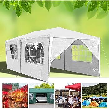 Hengda 3 x 6 m Jardin Tonnelle étanche Jardin Camping Stable tente tubes d'acier stable de haute qualité avec 4 parties latérales et 2 entrées étanche