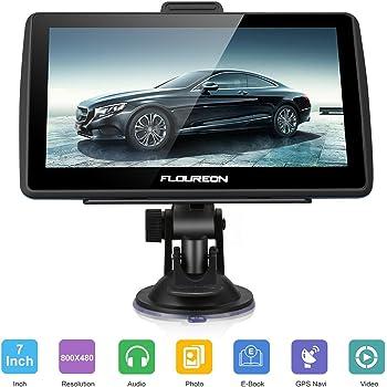 FLOUREON GPS de Coches Navigation Pantalla LCD capacitiva de 7 Pulgadas Sat Nav Navigator para camión y automóvil con actualizaciones de mapas de por Vida- ...