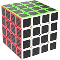 LSMY Speed Cube 4x4x4, Puzzle Magic Cubo Carbon Fiber Sticker Toy