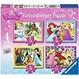 Ravensburger – Disney Princess – 4 Puzzles – 12, 16, 20, 24 Pièces – 14x19cm