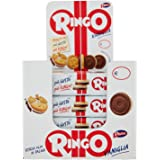 Pavesi Ringo Espositore Biscotti Snack alla Vaniglia - Pacco da 24