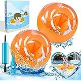 Manguitos de Natación para Niños - Brazaletes de natación inflables - Brazalete Hinchable Flotador - Anillo de natación con C