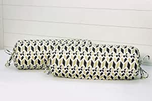 "AURAVE Cotton Satin 300 TC Bolster Cover (15""x30""_Brown)"