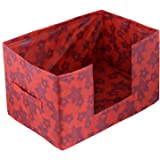 Kuber Industries Metalic Flower Large Capacity Space Saver Closet, Stackable and Foldable Saree, Clothes Storage Bag…