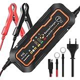 KYG Chargeur de Batterie pour Voiture 6/12V 5A, Mainteneur de Batterie Intelligent avec Plusieurs Protections, Battery Charger pour Motos Voiture