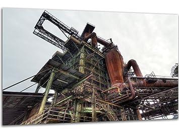 Hochofen   Wandbild II Stahlwerk Maxhütte, Exklusiver Druck Auf Leinwand,  Alu Dibond Oder