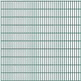 Festnight Clôtures et barrières,Panneaux de clôture en Acier de Jardin clôture de Ferme Longueur 2m/Hauteur 2030mm Vert