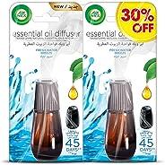 Air Wick Air Freshener Essential Oil Diffuser Refill, Fresh Water Breeze Twin Pack