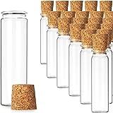 Liuer 20 STKS Reageerbuisjes Kruidenpotjes Set met Kurken Mini Glazen Flesjes Kruidencontainers Kleine Kruidenpotjes Opslag v