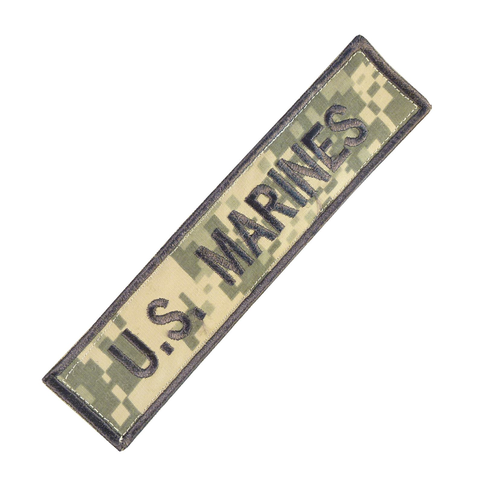 US Marines USMC Name Tape ACU ECWCS Ricamata Ricamo Combat Touch Fastener Toppa Patch