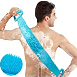 CABLE GALLERY Silicone Double Side Back Cleaning Shower Strap for Comfortable Massage Bath for Men and Women (Multicolour)