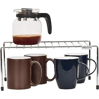 CREATICK   Multi Purpose Stand/Shelves Racks for Kitchen   Stainless Steel   Silver Chrome