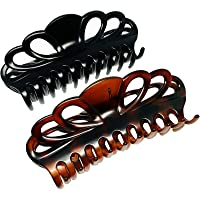 Marrie Hair Clips for Women Large Strong Jumbo Clip Claw for Thick Hairs * Pack of 2 *