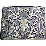 Scottish Highland Kilt Belt Buckle Stag Head Design Antique/Chrome/Gold Finish