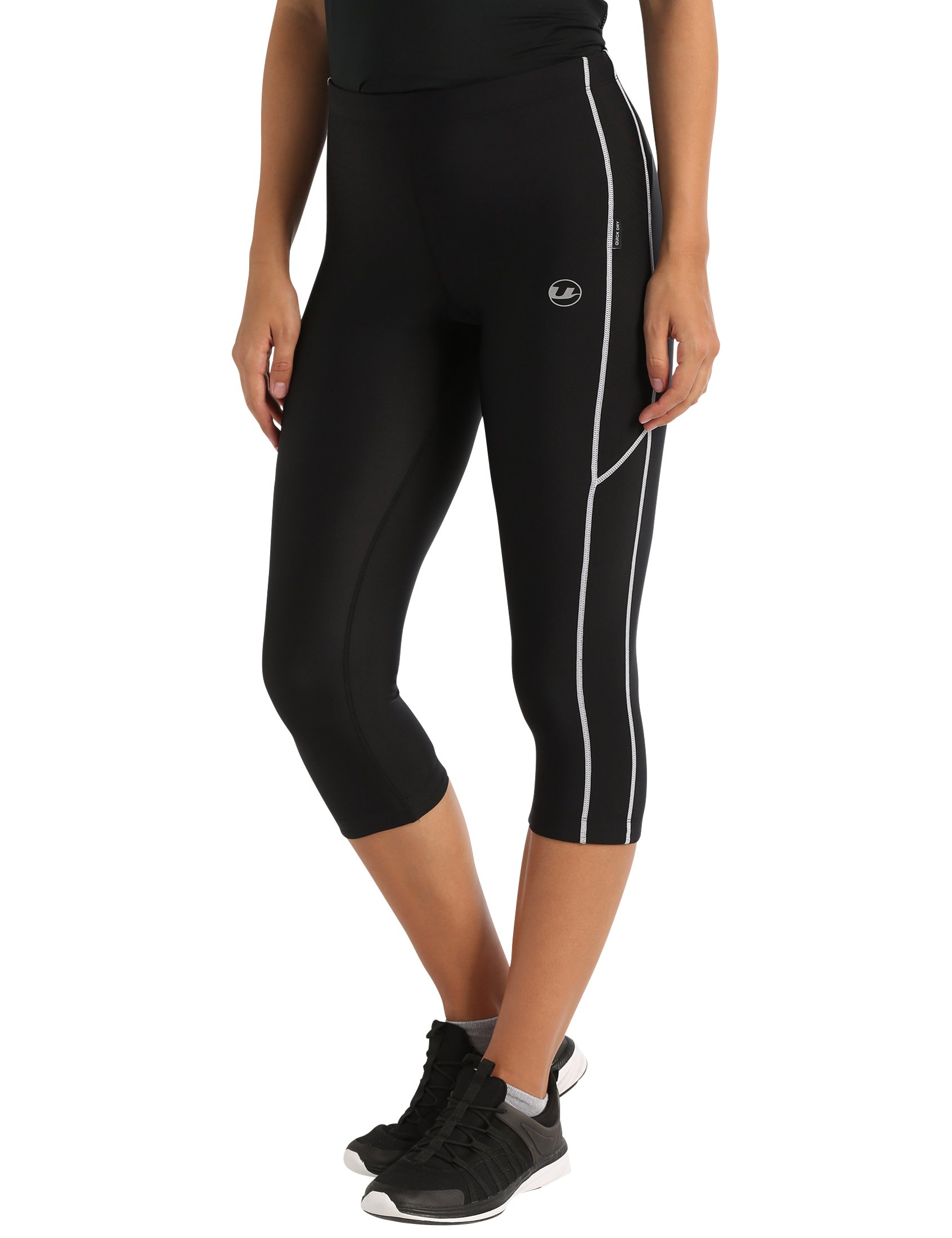 71ite8CPPGL - Ultrasport Women's Running Pants Capri with Compression Effect & Quick-Dry-Function