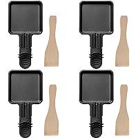 COSYLAND 4 Pièces Poêles à Raclette Avec Couche Antiadhésive pour Accessoires de Grill / Raclette électriques Universels…