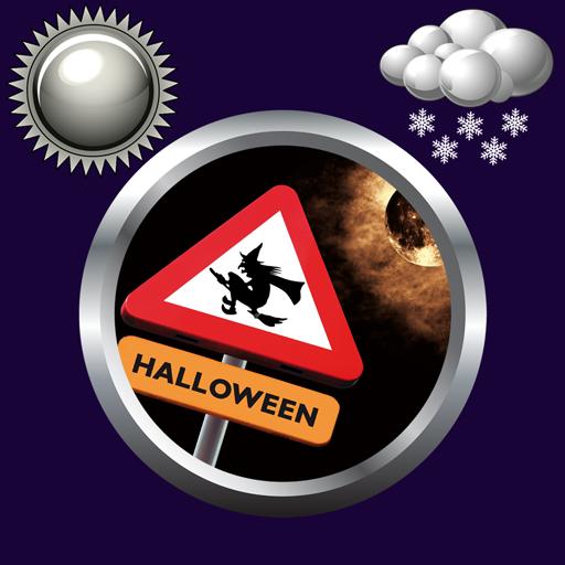 Halloween Uhr Wetter Widget