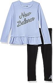 New Balance Girls' Long Sleeve Top and Pant Set