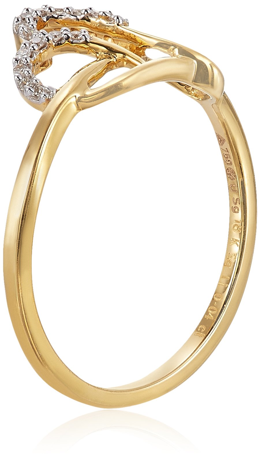 Senco Gold 18KT Yellow Gold and Diamond Ring for Women