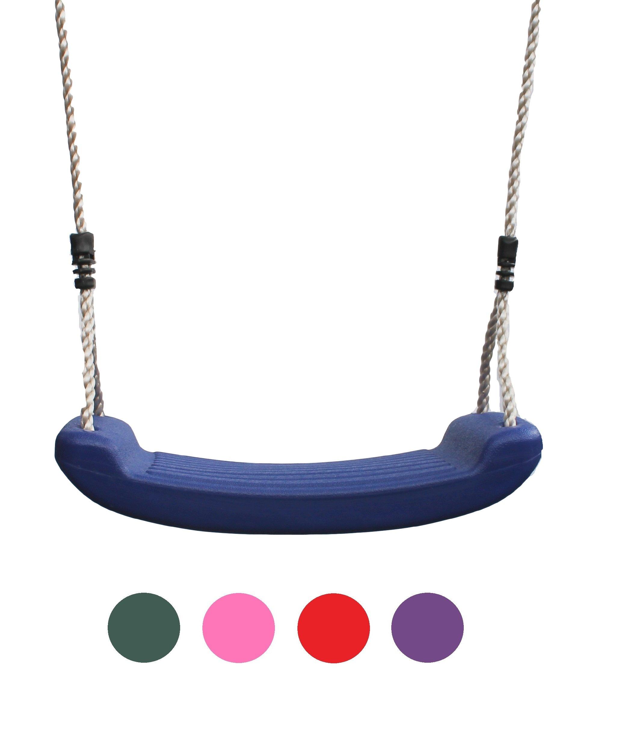 HIKS® – Columpio de jardín para niños con cuerdas ajustables incluidas, ideal para conjuntos de columpio y marcos de escalada (disponible en verde, azul, rojo, rosa y morado)