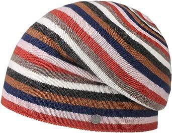 Lierys Berretto in Cachemire Merino Stripes Donna/Uomo - Made Italy Beanie Invernale Lavorato a Maglia Lana Oversize Autunno/Inverno