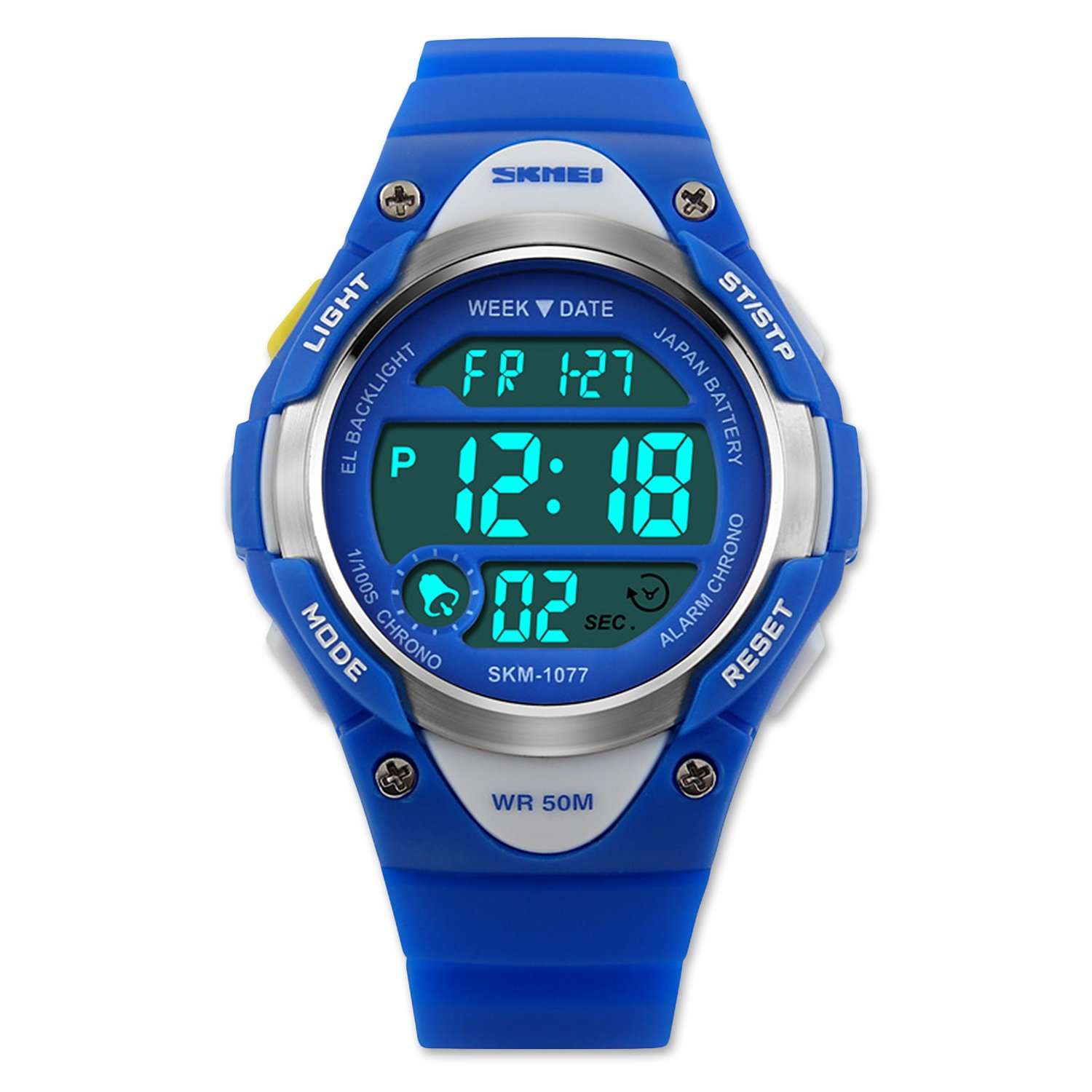 Boys Digital Sport Watch, Kids Outdoor Waterproof Electronic Analogue Watches LED Alarm Stopwatch Back Light Timer for Youth Childrens – Blue