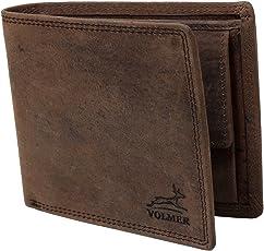 Fa.Volmer ® Schlanke Büffelleder Geldbörse Usedlook mit RFID-Schutz #Easycomfort (Iron)