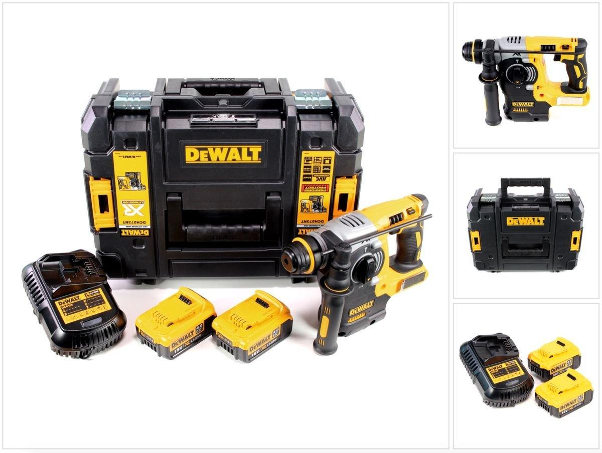 DeWalt DCH 273 M2 Akku Kombihammer 18V 2,1J SDS-Plus Brushless + 2x Akku 4,0Ah + Ladegerät + TSTAK