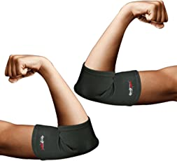 Healthgenie Premium Compression and Pain Relief Elbow Support - 1 Pair (Large)