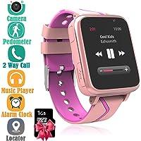 Orologio Telefono Musica Bambini - Lettore MP3 Smartwatch Phone con LBS Tracker SOS Fotocamera Chat Vocale Torcia…