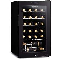 Subcold Viva24 LED – Under Counter Wine Fridge Black   3-18°C   Wine Cooler   LED + Lock & Key   Glass Door Drinks Cellar   Single-Zone (24 Bottle)