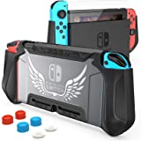 HEYSTOP Carcasa Nintendo Switch, Funda Nintendo Switch con Protectora TPU Grip Funda de Agarre Compatible con la Consola de P