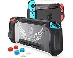 HEYSTOP Custodia Compatibile con Nintendo Switch, TPU PC Protettiva Cover Case Compatibile con Console Nintendo Switch Utiliz
