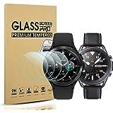 Diruite 4 Pièces Protecteur d'écran Compatible avec Samsung Galaxy Watch 4 Classic 46mm(2021)/Galaxy Watch 3 45mm(2020) Prote