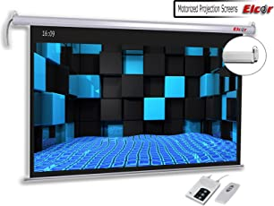 ELCOR Motorized Projector Screen 106- Diag. 16:09 Ratio, Active 3D/4K Ultra HD Home Theater