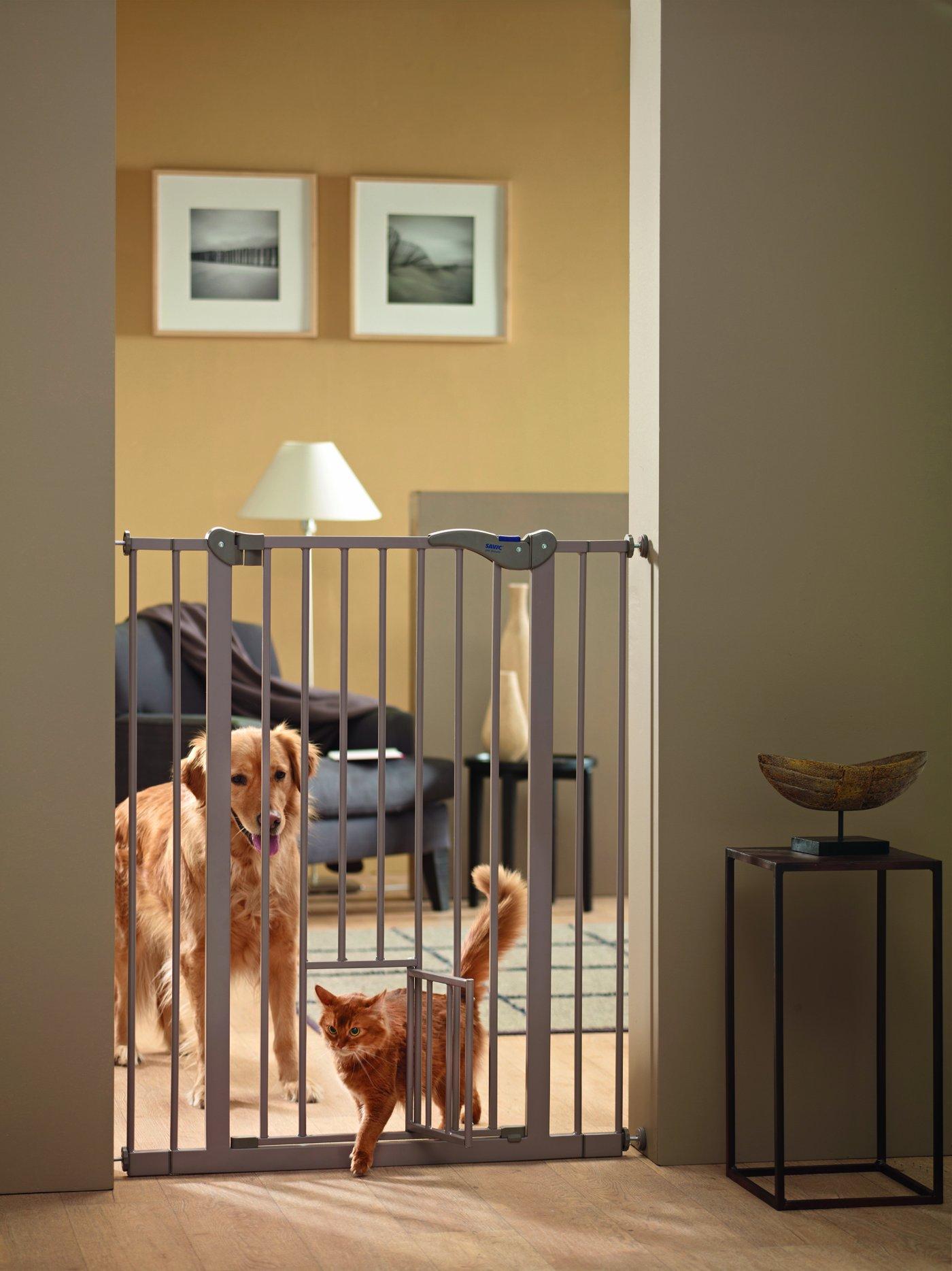 Savic 107 cm Dog Barrier with Cat Door