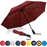 Amazon Brand - Eono Paraguas Plegable Automático Impermeable, Paraguas de Viaje Compacto a Prueba de Viento, Folding Umbrella