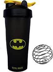 Royal Waves Solid Protein Shakers (Black) Batman 700ml