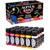 TBC The Best Crafts, Acrylic Paint, 24 Vibrant Colours, Perfect for Canvas, Glass and Wood