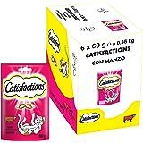 Catisfactions Snack per Gatto, Appetitoso Manzo, 6 Confezioni da 60 g