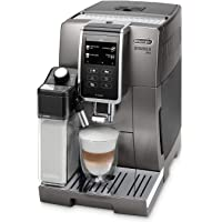 De'Longhi Dinamica Plus ECAM 370.95.T – Kaffeevollautomat mit integriertem Milchsystem, 3,5''TFT Touchscreen & App-Steuerung, automatische Reinigung, Kaffeekannen-Funktion, 34,8x23,6x42,9cm, Titan