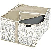 Domopak 909005 Housse de Rangement sous lit 30x40x20cm Brun/Gris, Polyester, 30 x 40 x 20 cm