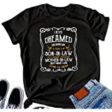 Blue Star Christmas Shirt Men I Never Dreamed Son-in-Law Mother-in-Law Funny Funny Letter Printed T-Shirt