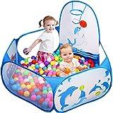 Likorlove Ball Pit Ball Pool med Mini Basketkorg, Barns Boll Vaddera, Ungar Boll Grop, Pop-up boll bad för bebis, Speltält le