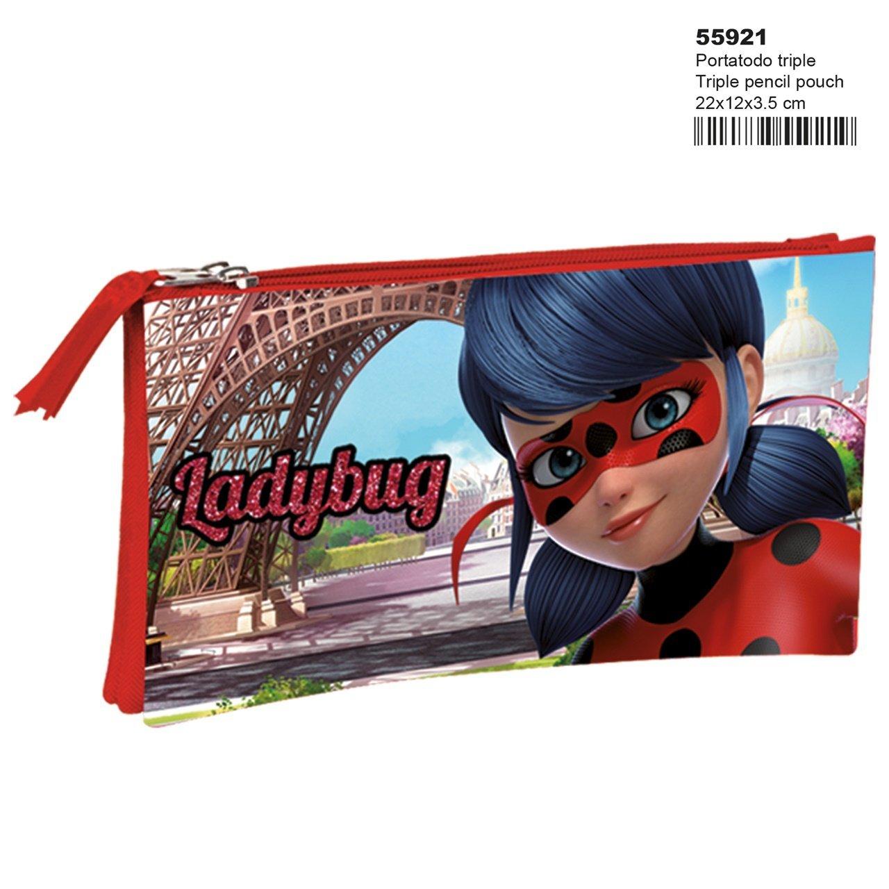 Montichelvo Ladybug Amour – Estuche portatodo Triple (Perona 55921)